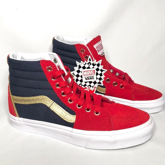 d24a2148bb4 VANS SK8-Hi Marvel Captain Marvel Hi Top Shoes